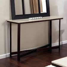 contemporary sofa table in espresso wood finish with faux top furniture of america console end tables contemporary sofa table