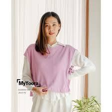Myyoora) Eleanor Vest Outer Women 's Clothing Jk537   Shopee Singapore