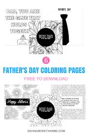 Six Free Father's Day Coloring Pages (Makes A Great Card) • Winter ...