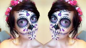 how to sugar skull makeup tutorial day of the dead you