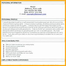 Resume Profile New 60 Personal Profile Resume Example Melvillehighschool