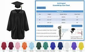 Cap And Gown Measurement Chart Annhiengrad Unisex Shiny Kindergarten Graduation Gown Cap Tassel 2018 2019 Package