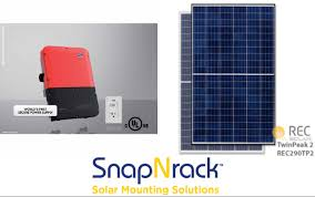 8 7 kw grid tie solar system with sma 7 7 string inverter and 30x rec 290w panels