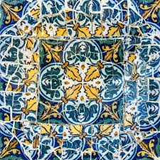 broken glass mosaic tile decoration in park guell barcelona stock editorial photography