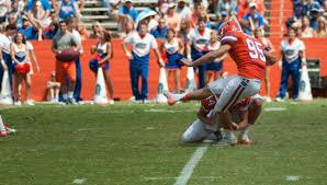 florida gators kicker frankie velez in mid kick the swamp university of florida