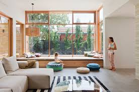 window seat furniture. Window Seat Bench Ideas Living Room Contemporary With Family Home Concrete Floor Furniture R