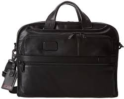 tumi alpha 2 organizer portfolio leather brief briefcase bags