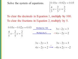 9 solve the system of equations
