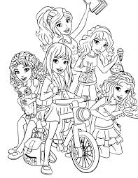 Small Picture Lego Friends Coloring Page Disney LOL