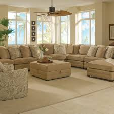 light brown fabric corner sectional chaise sofa which equipped with