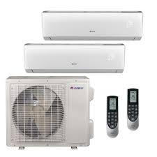 gree multi 21 zone 18 000 btu 1 5 ton ductless mini split air conditioner with heat