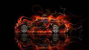 ford mustang gt muscle fire car