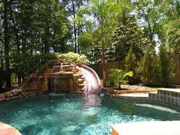 Lagoon Swimming Pool Designs Exterior Rock Lagoon Swimming Pool With Slide  Combined With Rock