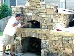 outdoor pizza oven plans diy backyard brick build fireplace ov