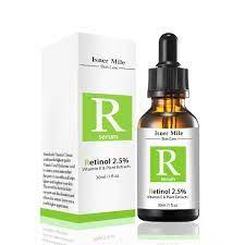 Amazon.com: Isner Mile Face Facial Serum Retinol 2.5% 30ml Vitamin C Serum  Firming Repair Skin Anti Wrinkle Anti Acne Anti Aging Serum Skin Care, 1 fl  oz.: Beauty