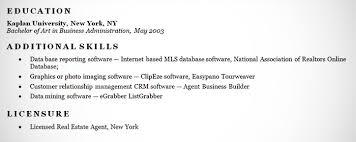 Additional Resume Skills Real Estate Agent Resume Example Sample