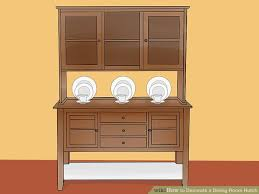 dining room hutch. Image Titled Decorate A Dining Room Hutch Step 9