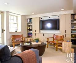 double duty entertainment center and storage space