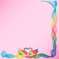 Frame Of Wavy <b>Ribbons</b> Of <b>Rainbow Colors</b> With A Pair Of ...