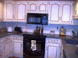 Glazed White Kitchen Cabinets White Antique Kitchen Cabinets Kitchen Design White Antique