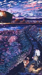 aq85-anime-night-art-sunset-lovely ...