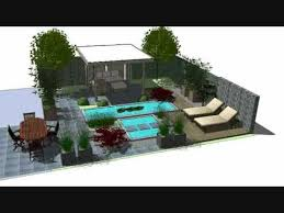 Small Picture 3D Garden Design Sketchup Faassen Holland YouTube