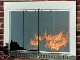 wood burning fireplace glass doors fireplace