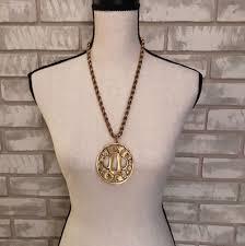 details about alva museum replic necklace vintage japanese tsuba large medallion pendant