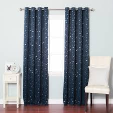 aurora home star struck grommet top 84 inch thermal insulated blackout curtain panel pair