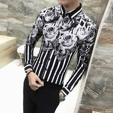 <b>2019 Spring</b> Floral Shirt Men Brand <b>New</b> Men Shirt Long Sleeve ...