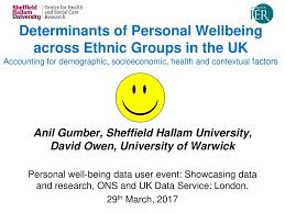 Ethnic Groups In The Uk Determinants Of Personal Wellbeing Across Ethnic Groups In