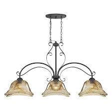 3 Light Pendant Island Kitchen Lighting Millennium Lighting Chatsworth 455 In W 3 Light Burnished Gold