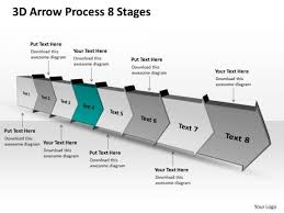 3d Arrow Process 8 Stages Flow Chart Free Powerpoint