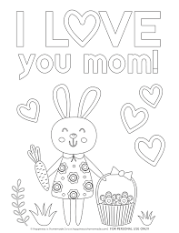 These free printable mothers day coloring pages are perfect to surprise mom with a homemade gift. Mother S Day Coloring Pages Free Printables Happiness Is Homemade