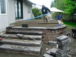 how to build a raised concrete porch deck