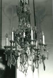 Kronleuchter Mit Behang Aus Glas 6 Kerzen 4 Hängelampen