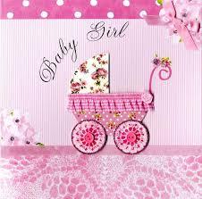 Second Nature New Baby Girl Keepsake Card