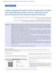 Pdf A Study Comparing Trial Registry Entries Of Randomized