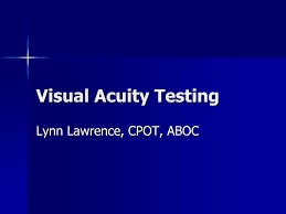 Ppt Visual Acuity Testing Powerpoint Presentation Free