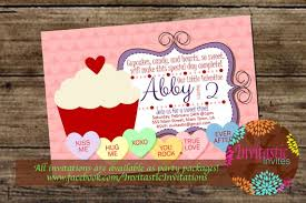 Valentines Day Invitations Interesting Valentine's Day Birthday InvitationValentine's Candy Etsy