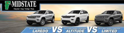 Jeep Grand Cherokee Trim Comparison Chart 2018 Jeep Grand Cherokee Trims Laredo Vs Altitude Vs Limited