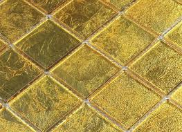 glass mosaic effect tiles gold 48x48x4mm mosafilcouk