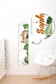Tropical Decor Personalised Baby Growth Chart