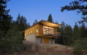 view in gallery small cabin built on budget elevated design 1