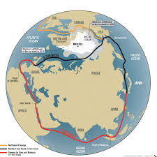 Image result for sea route in the Arctic