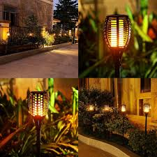 lighting tiki torches. Solar Torch Lights,Balight Dancing Flame Lighting 96 LED Flickering Tiki Torches Waterproof Wireless Outdoor Light For Patio Garden Path Yard Wedding Party