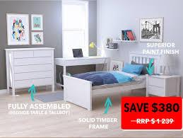 Kids White Bedroom Furniture Dandenong Single Bedroom Suites White Modern B2c Furniture