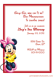 Free Minnie Mouse Birthday Invitations Minnie Mouse Birthday Invitation Wedding Invitation