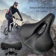 Bike Seat <b>Shock Absorbing Hollow Bicycle</b> Saddle PVC Fabric Soft ...
