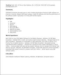 Sap Basis Resume Sample - Kleo.beachfix.co